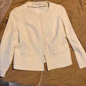 Cream Banana Republic short jacket